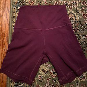 lululemon biker shorts 6""